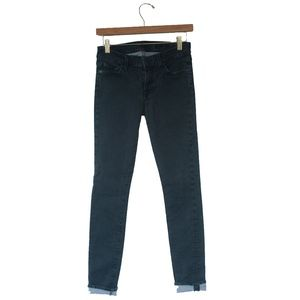 7 For All Mankind Gwenevere Dark Gray Skinny Jeans